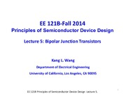 EE121B 2014F Lecture 5-BJT-2