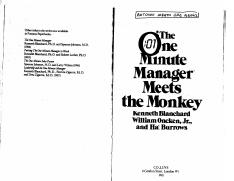Dr. Blanchard's- The One Minute Manager Meets The Monkey.pdf