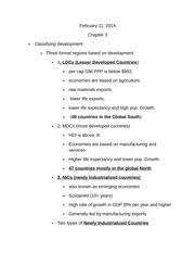 chapter 3 Classifying development