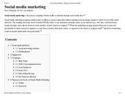 Social media marketing - Wikipedia, the free encyclopedia