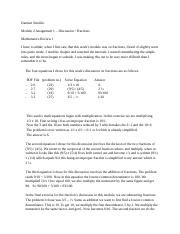 M2-A1-Discussion Fractions