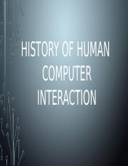 History of Human Computer Interaction.pptx