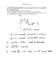 Exam 1 Solution on Physics 1 with Mechanics