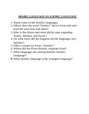 Language - Topic Questions - 1
