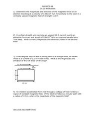 Physics 6B Ch20worksheet