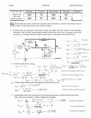ENGR 210 Fall 2016 Quiz 7 Solutions