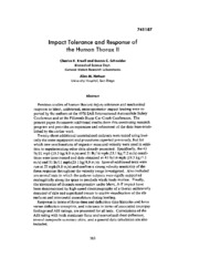 Impact Tolerance and Response of the Human Theorax II.pdf