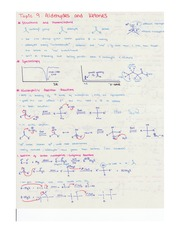 Notes on Aldehydes and Ketones