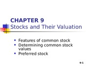 Zhang_Student_Chapter 09_Stocks and Their Valuation