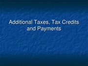 2012.7Tax Credits and Payments(1)