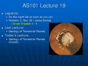 AS101 Lecture 19
