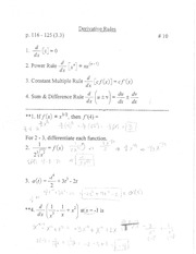 derivatives rule notes