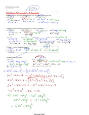 Multiplying Polynomials Key