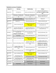 CHEM 1310 Fall 2018 Tentative Lecture Schedule.docx
