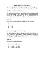 Questions - International Trade & Foreign Exchange.docx