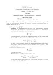 Fall 2008 Midterm &Solutions