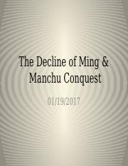 The decline of Ming and Manchu Conquest(1).pptx