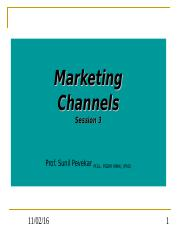 Marketing Channels - 3