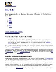 """Equality"" in Paul's Letters.html"