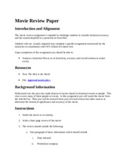 Movie Review Paper