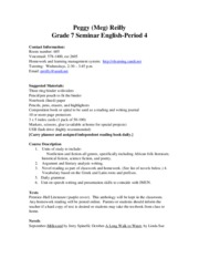 Reilly Grade 7 4sem syllabus website