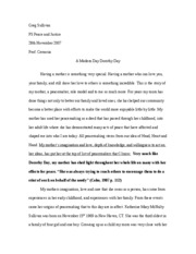 Dorothy Day Paper