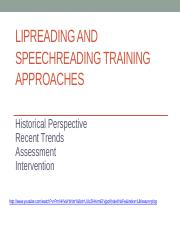 Fall 2016 Speechreading Training Approaches 16(1)