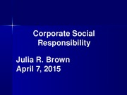 Corporate Social Responsibility 040715