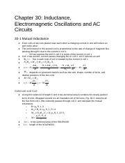 Physics Chapter 30 Inductance EM Oscillations AC Circuits.docx