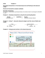 Transactions Notes