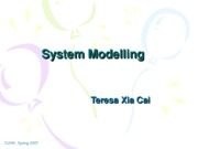 Lecuture 6 System Modelling