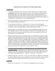 Complications and Conclusions.docx