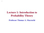 EMSE 208 Lecture 1 - Introduction to Probability Theory
