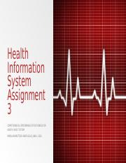 Health Information System Assignment 3.pptx