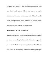 charges are paid by the owners of vehicles who are the road users.docx