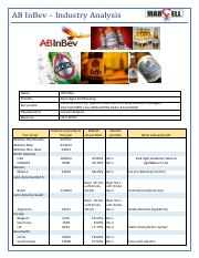 Industry Analysis_AbInBev