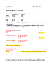 Quiz - Postquiz - Answer Key - Fall 2010