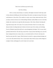 Risk Factors and disease prevention essay