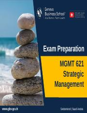 MGMT 621 - Exam Preparation.ppt