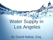 Water Supply in Los Angeles