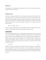 179688515-MOLAR-CONDUCTIVITY-AT-INFINITE-DILUTION-OF-ELECTROLYTES-LAB-REPORT