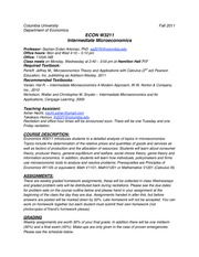 Intermediate_Microeconomics_W3211_Syllabus_Fall_2011
