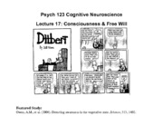 Psy 123_Lec 17 Conscious Free Will