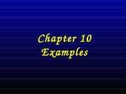 Chapter 10 EXAMPLES