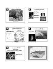 Lecture 3 Rocks and Plate Tectonics B&W