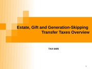 TAX 6405  Unified Overview(1)