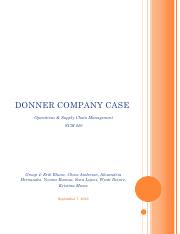 DONNER COMPANY CASE - Group 4