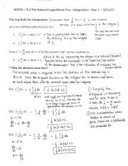 20170321_5.2_the_natural_logarithmic_function_-_integration_-_day_1_-_completed_notes