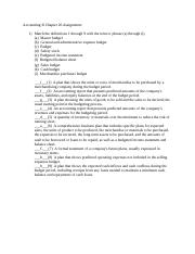 Accounting II Chapter 20 Assignment.docx