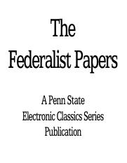 sec 2-the federalist papers